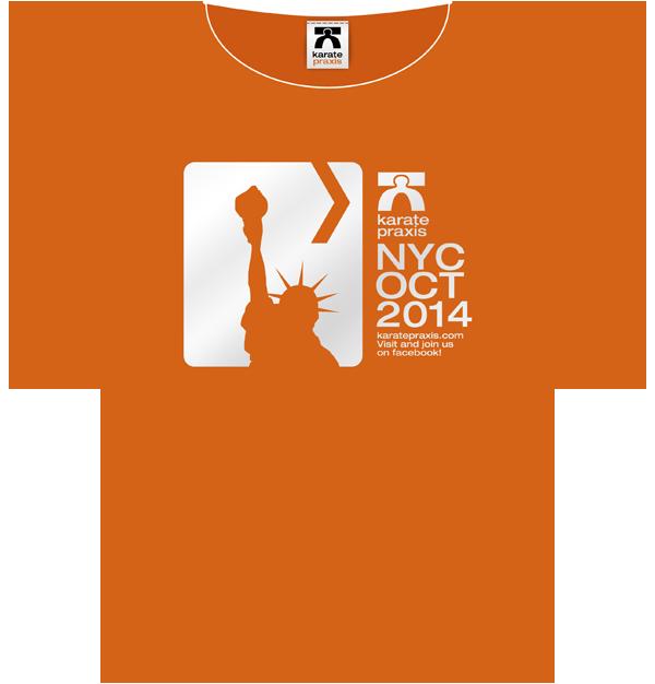 Das T-Shirt Motiv zum karatepraxis Lehrgang in NYC // The  T-Shirt motif for the karatepraxis seminar in NYC