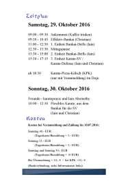 Bunkai-Seminar mit Iain Abernethy und Christian Wedewardt