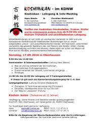 Koshinkan-LG mit Hans Wecks & Christian Wedewardt am 17.09..2016