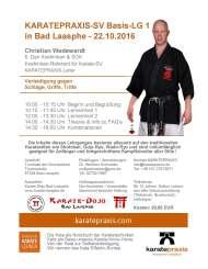 KARATE-SV Basis-Lehrgang in Bad Laasphe am 22.10.2016 mit Christian Wedewardt