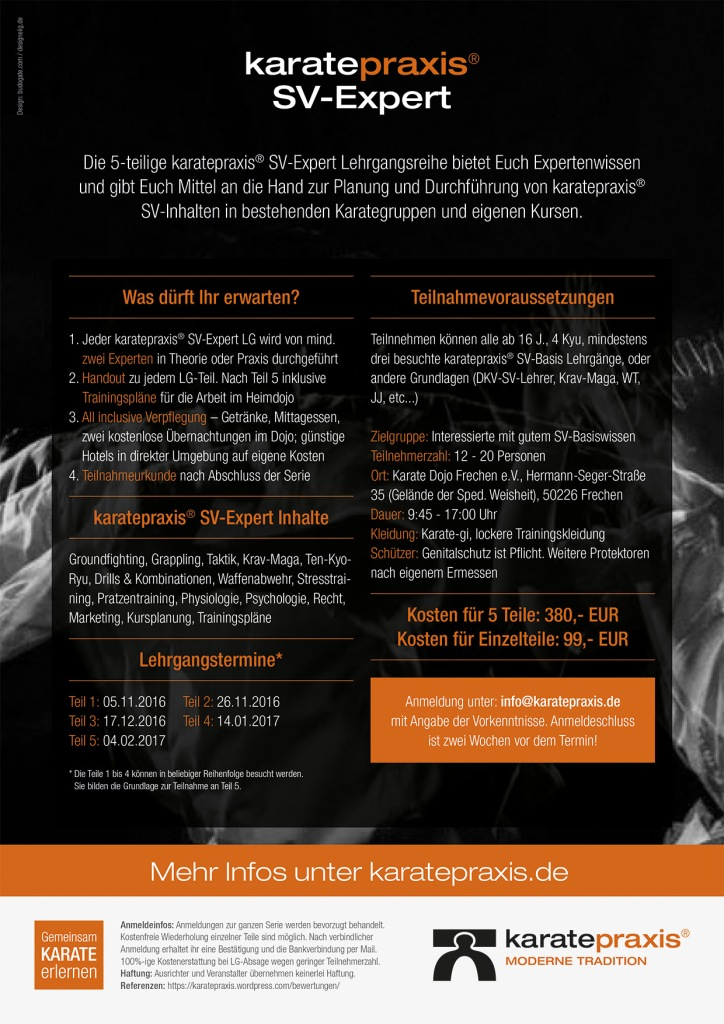 KARATE-SV Expert-Lerhrgangsreihe Flyer