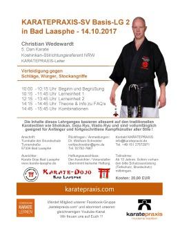 Karate-SV-Basis LG 2 mit christian Wedewardt in Bad Laasphe