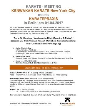 kenwakan_meets_karatepraxis mit Shihan Michelle Gay & Gene Dunn aus NYC & Christian Wedewardt und Daniel Leinweber von Karatepraxis