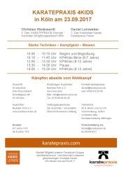 Karatepraxis 4Kids mit Christian Wedewardt und Daniel Leinweber in Köln