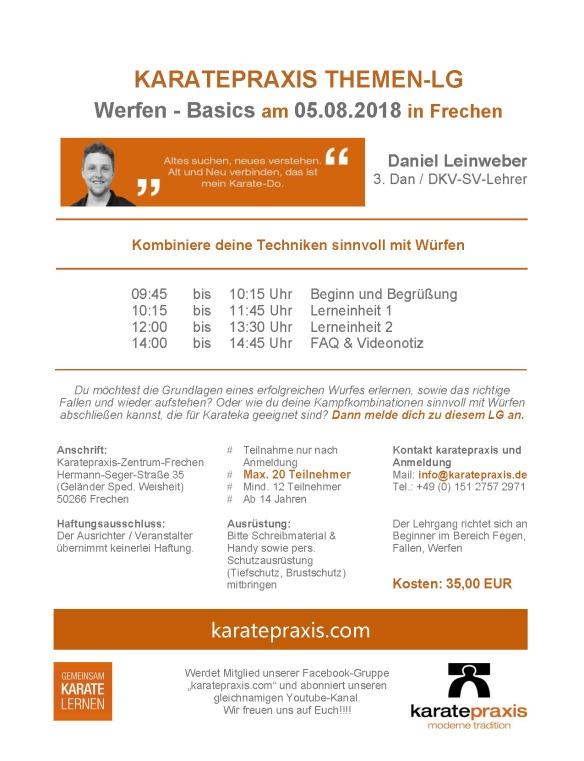 2018_08_05 TL Werfen - Basics